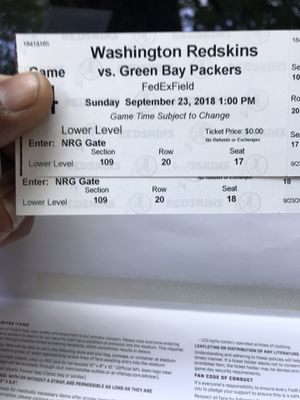 Football tickets great seats for Sale in Upper Marlboro, MD