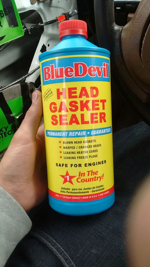 Blue Devil Head Gasket Sealant Table