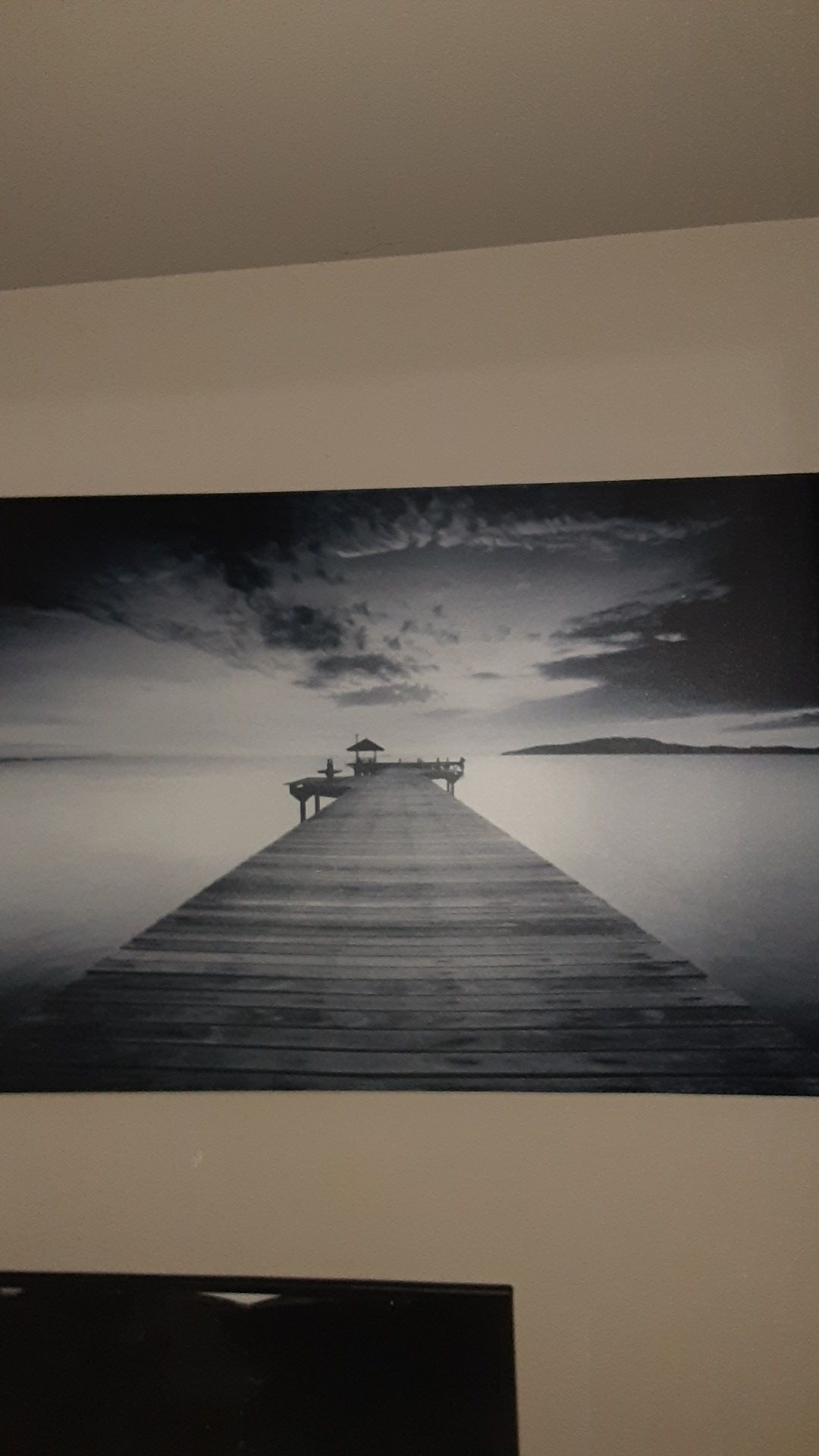 Printed canvas picture