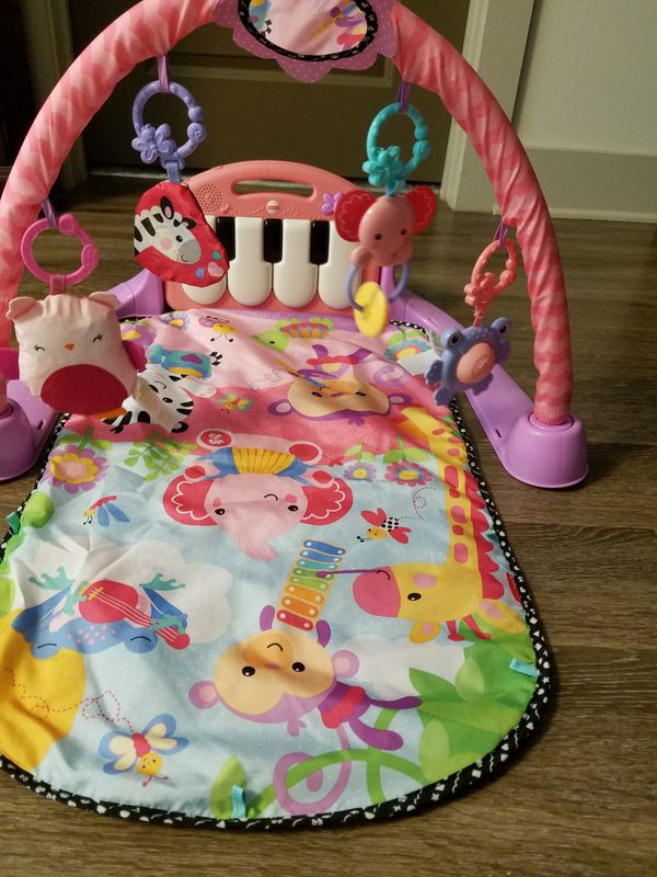 Fisher Price Kick Play Piano Gym Pink Baby Kids In Charlotte