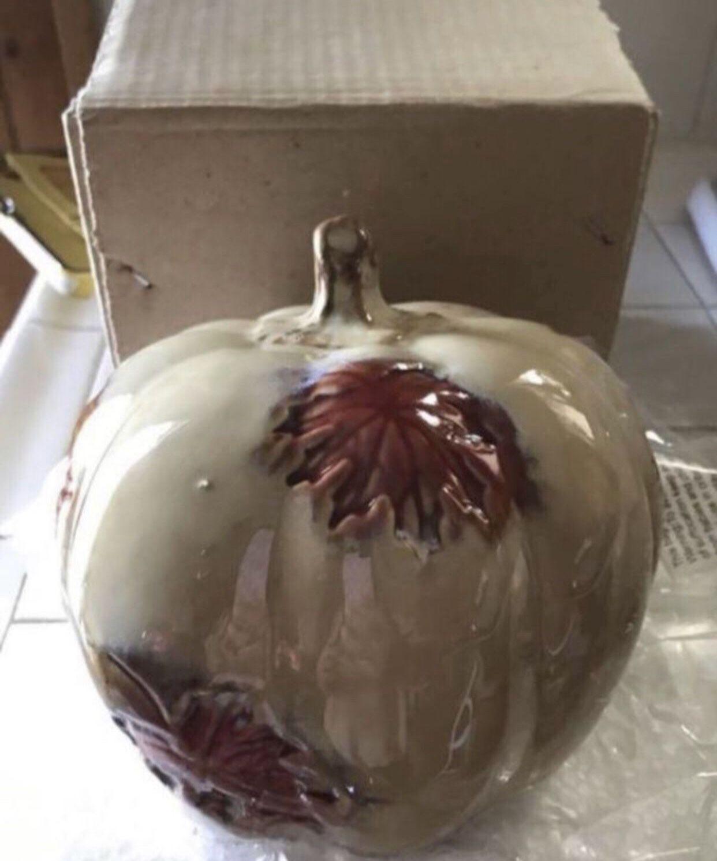 Ceramic fall 🍁 pumpkin decoration New
