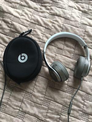 Beats wired silver headphones for Sale in Appomattox, VA