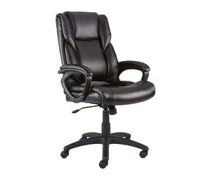 Photo NEW- Faux Leather Computer and Desk Chair, Black
