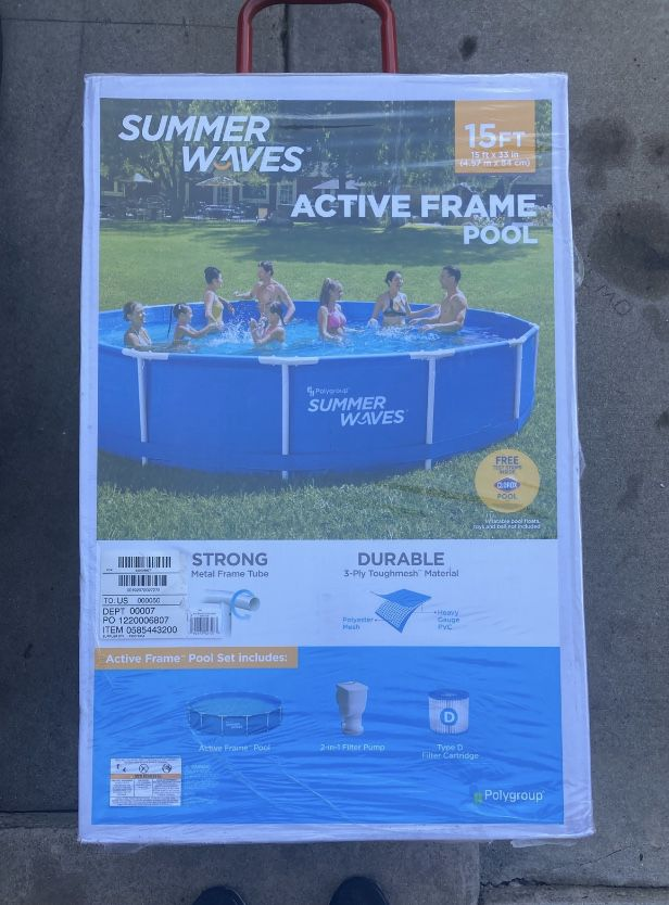 Summer Waves 🌊 15ft Pool 🏊♂️ with filter and pump