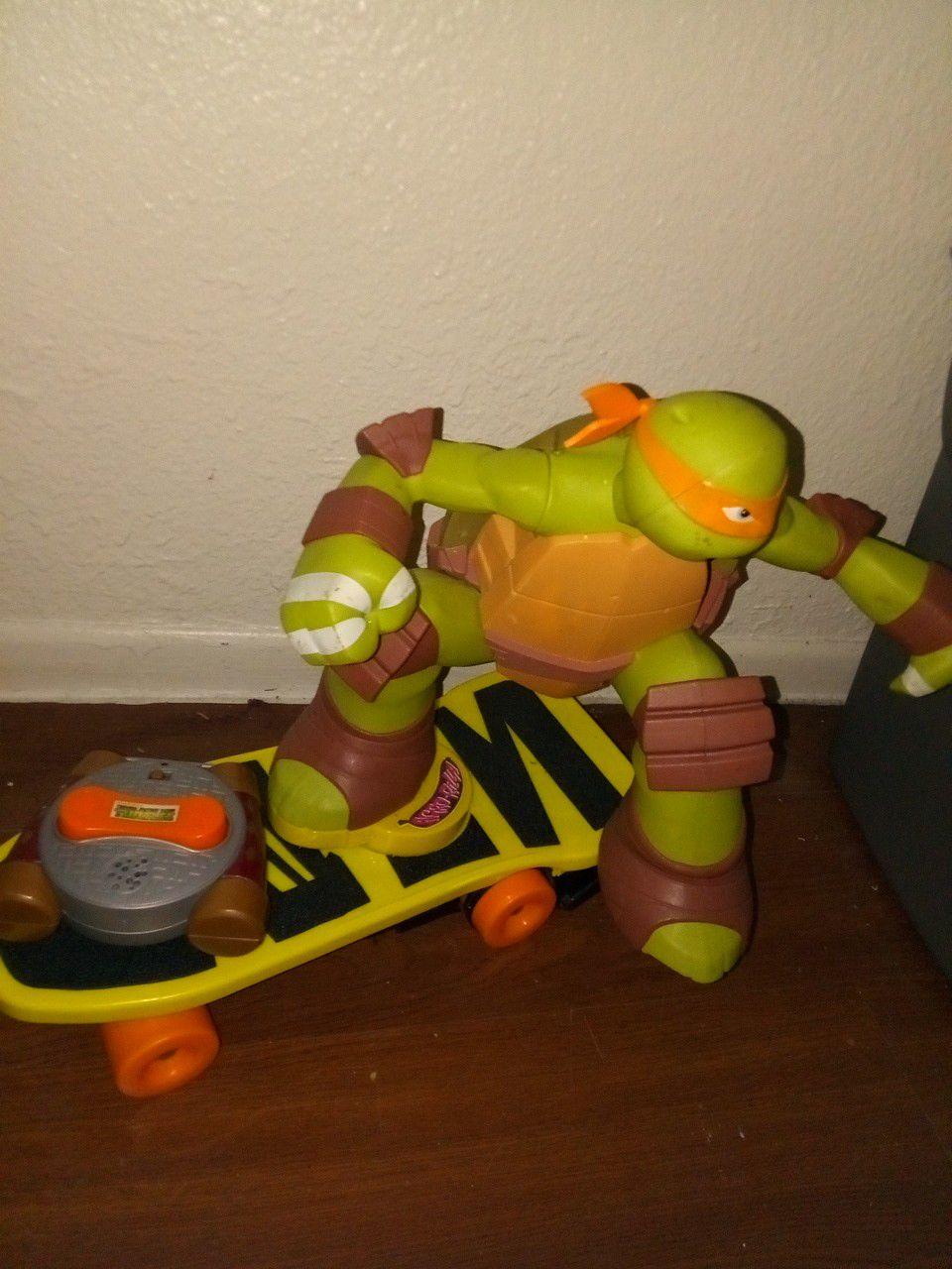 Ninja turtle remote skateboard