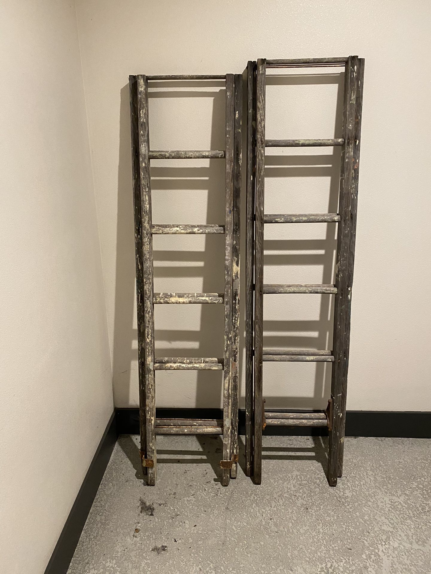 Antique Wooden Ladder from 1917
