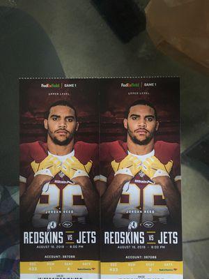 Redskins vs Jets preseason tickets for Sale in Vienna, VA