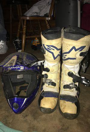 70840120a8a79e Thor dirt bike helmet and alpine dirt bike shoes for Sale in Gastonia