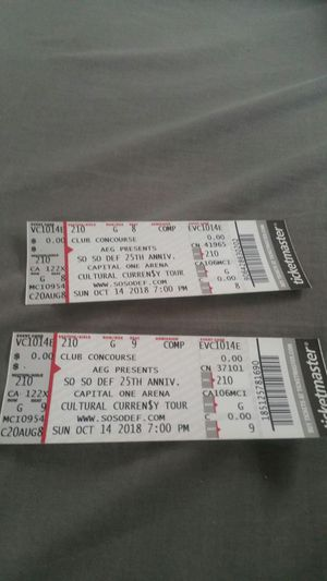 So so def 25 th anniversary tickets for Sale in Washington, DC
