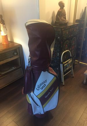 Vintage Callaway Gold Bag with clubs for Sale in Los Angeles, CA