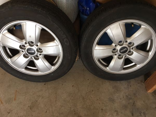 Mini Cooper Tires >> Mini Cooper Rims And Tires 75 Percent Tire Tread 15 Inch 4 Rims And Tires Tire Size 175 65r15 For Sale In Fremont Ca Offerup