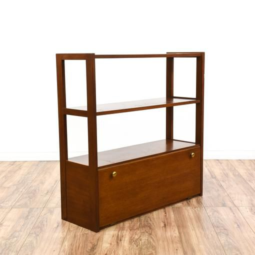 Mid Century Modern Teak Bookshelf Cabinet For Sale In San Diego CA