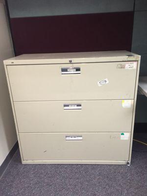 Two huge file cabinets(hon) for Sale in Detroit, MI