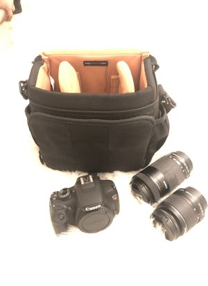 Canon Rebel T5 w/Carrying Case & 2 lenses for Sale in Chandler, AZ