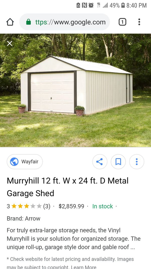 12x24 arrow shed for sale in brooksville fl offerup for Sheds brooksville fl