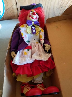 Porcelain girl clown doll for Sale in Cleveland, OH