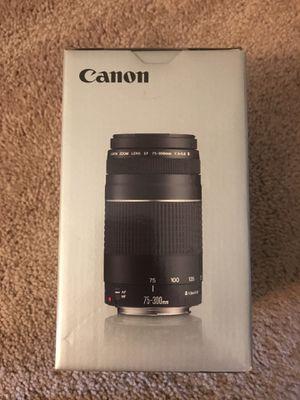 Canon EF 75-300mm f/4-5.6 III lens for Sale in Scottsdale, AZ