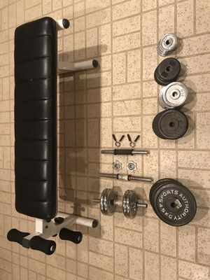Dumbbell weights and bench for Sale in North Bethesda, MD