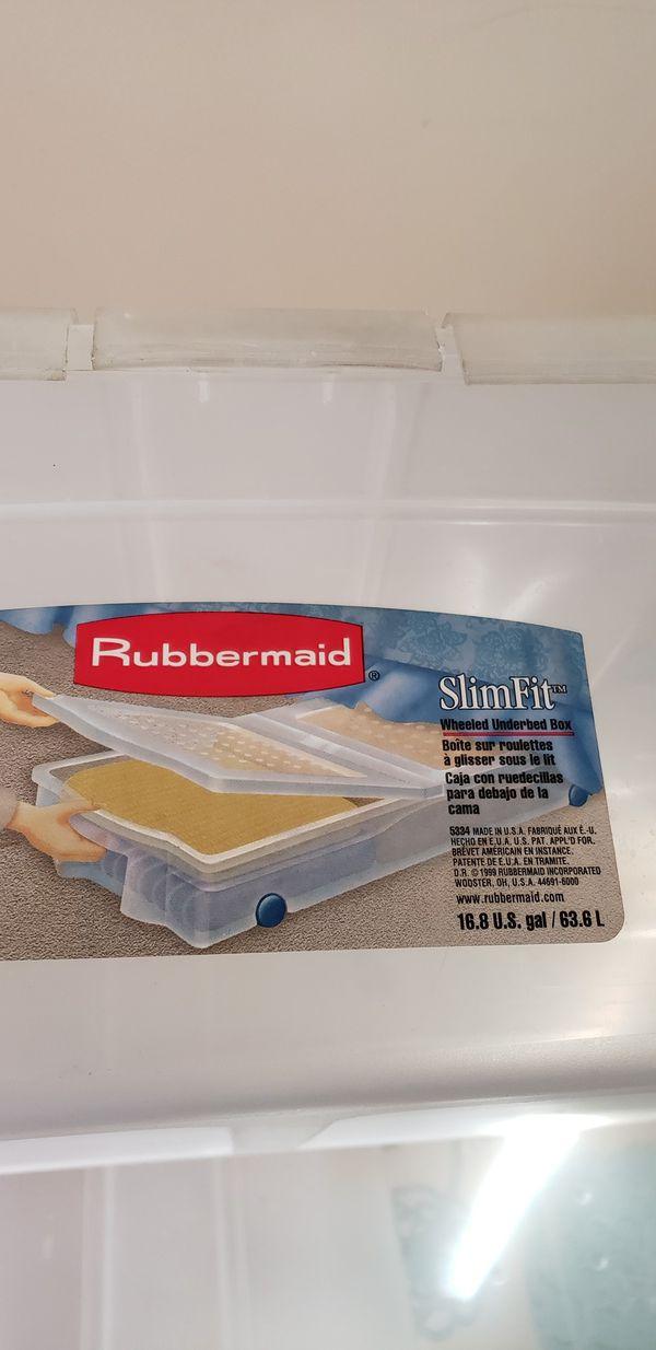 Slim Fit Under Bed Storage