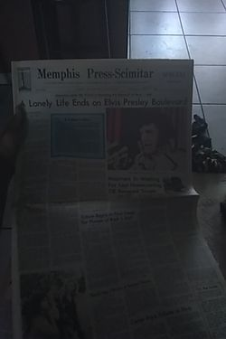 Elvis death paper from 1977 Thumbnail