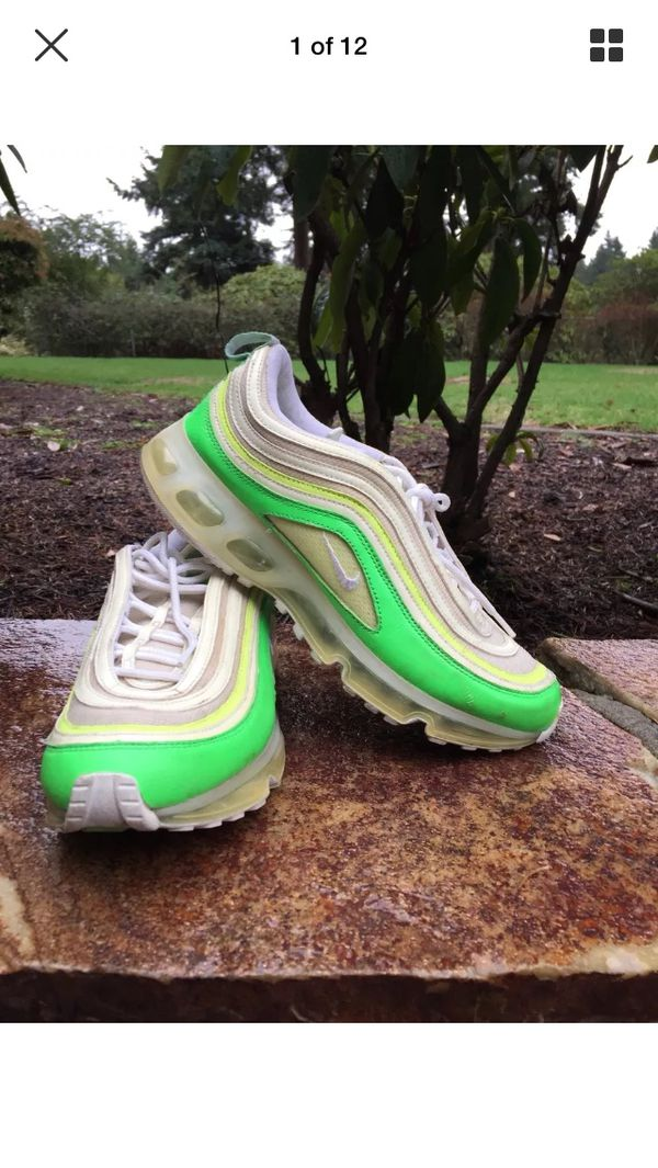Limited Nike air max 97 360 radiant green yellow size 9 for