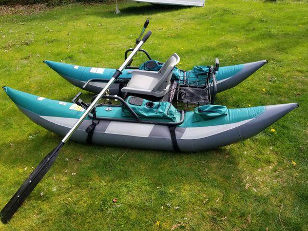 9' Wilderness Pontoon boat w oars(Pending Sale) for Sale in Black Diamond,  WA - OfferUp