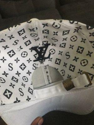 WHITE LOUIS VUTTON  UPREME  WHITE GUCCI HAT for Sale in Sacramento a895cb8c69ca