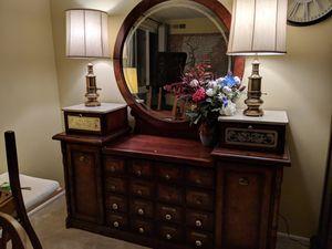 Antique wood vanity mirror for Sale in Alexandria, VA