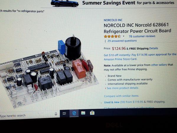 Norcold RV refrigerator circuit board for Sale in San Antonio, TX - OfferUp