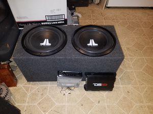 Photo 2 jl audio 12s box Ds18 monoblock amp and head unit