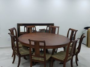 Solid wood Dining table with 8 chairs for Sale in Sunny Isles Beach, FL