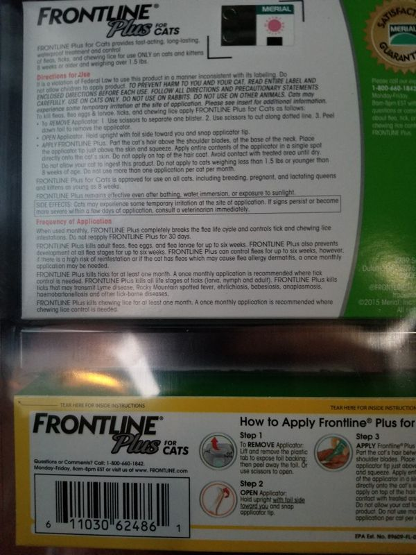 New Frontline Plus 8 Month Supply For Small Dogs For Sale In