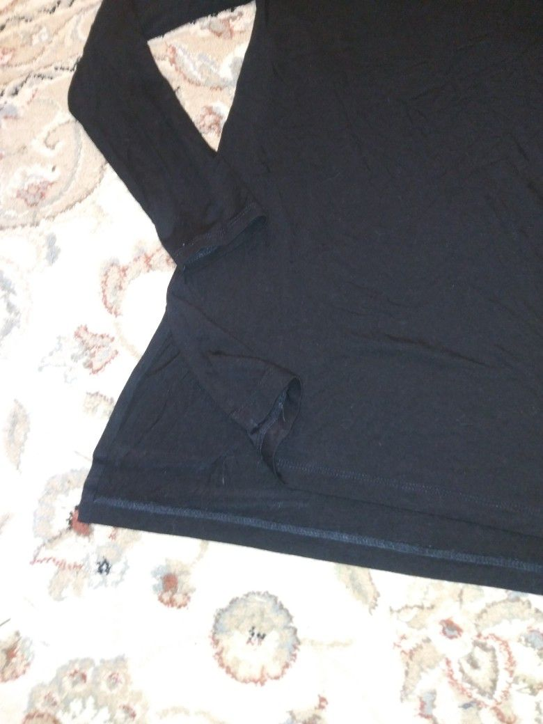 Paraphrase Women's Size XS Black Long Sleeve Soft Jersey Blouse