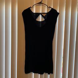 Black Viscose Dress With Pockets Thumbnail
