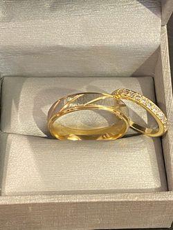 UniseX 18K Gold plated Luxurious Mathing Ring Set - Code GO20 Thumbnail