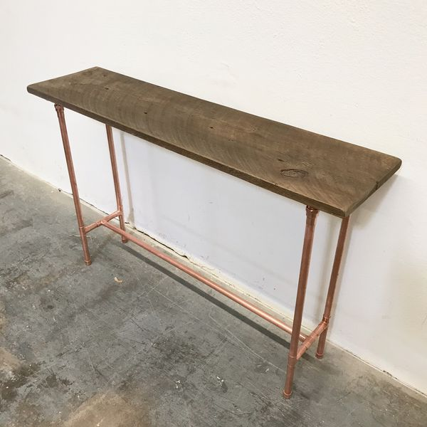 """Copper & Reclaimed Wood Sofa Table Jane Console Table 48"""" real copper  Entry/foyer/sofa/hallway/bath for Sale in Mesa, AZ - OfferUp"""