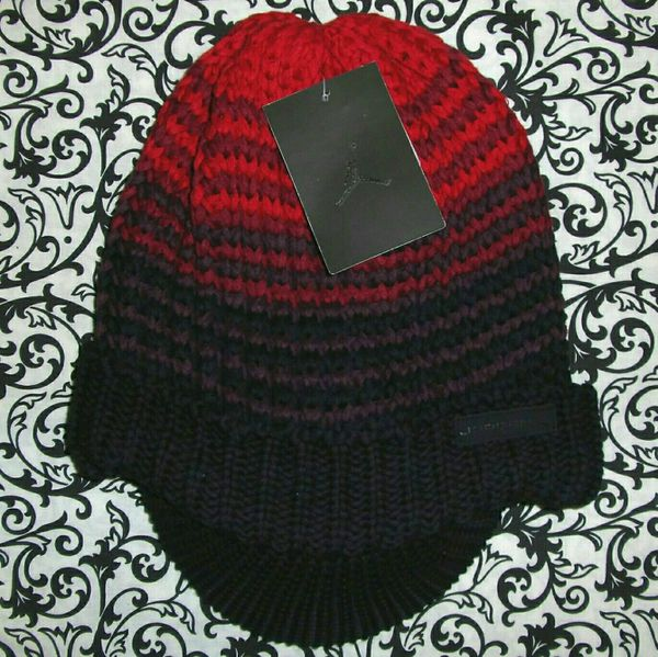 9acb3cafb14a08 Jordan Boys Youth Brimmer Knit Winter Hat Black Red 8-20 for Sale in ...