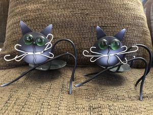 Black cat / votive or tea lite/ for Sale in OH, US