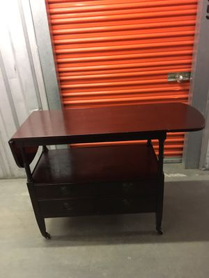 Wooden Console Table with Leaflets for Sale in Silver Spring, MD