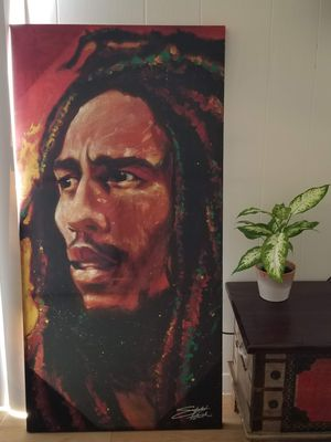 Bob Marley Canvas Painting for Sale in Austin, TX