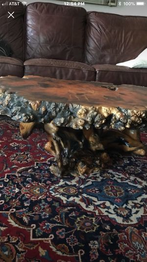 946a0c570f Live edge burl wood coffee table for Sale in San Jose