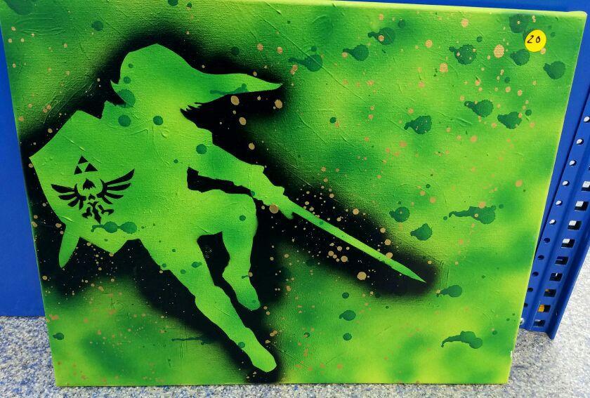 Legend of Zelda Link Painting