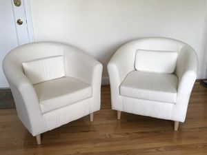 IKEA Tullsta armchairs -White for Sale in Alexandria, VA