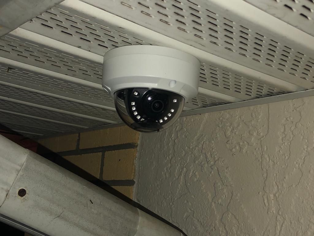 Security cameras and alarm