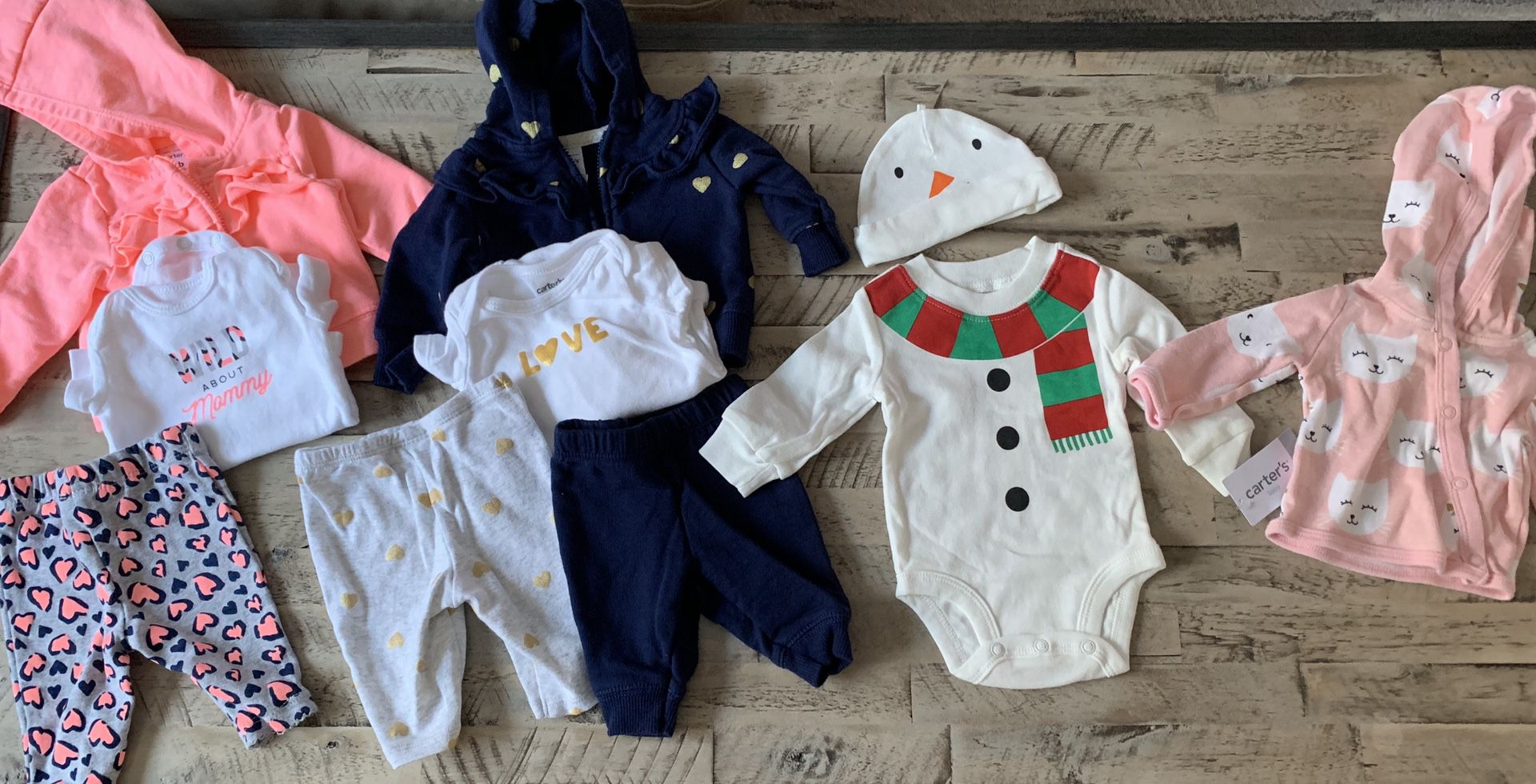 Newborn baby girl clothes and accessories