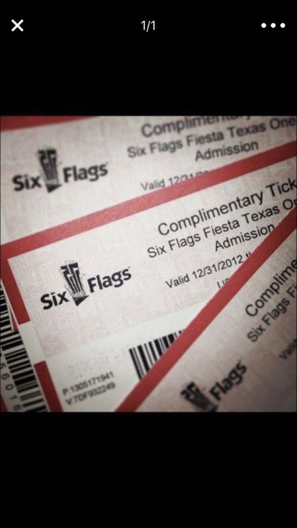Six flags - Fiesta Texas tickets for Sale in Round Rock, TX - OfferUp