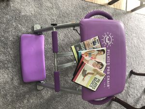 Photo Pilates Pro Chair Exercise Equipment and 4 how-to DVDs