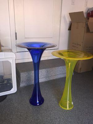 Handblown glass floor vases for Sale in Denver, CO