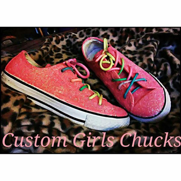 d14e088c7b6966 Youth Custom Glitter Converse for Sale in Pickens
