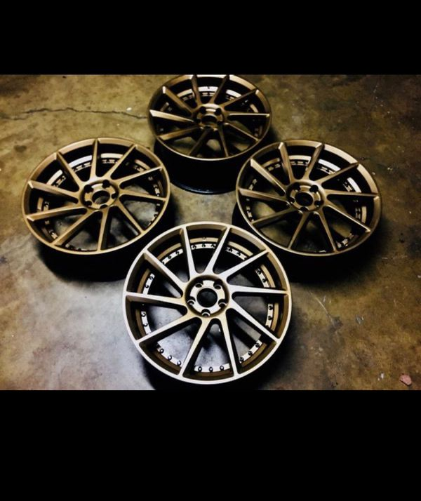 Gold Bronze Euro Concave Rims For Sale In Riverside, CA